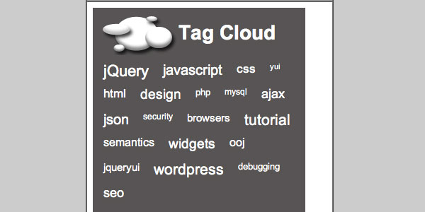 jquery powered tag cloud 25 Handy jQuery Tutorials