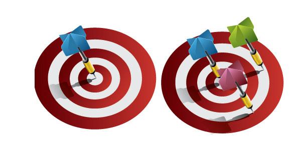 Vector Darts on Bullseye