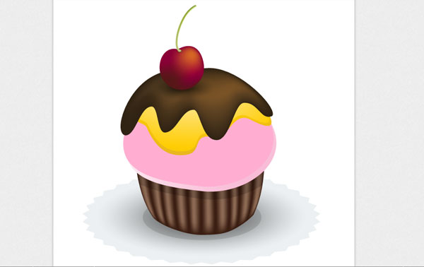 Create a Yummy Vector Cupcake