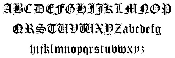 cloister black 20 Old English Letters Fonts