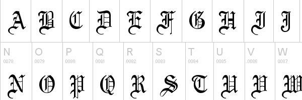 olde english 20 Old English Letters Fonts