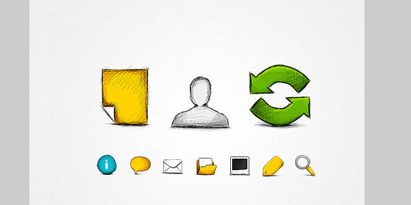 hand drawn web icons png 20 Cool Free Pixel Perfect PSDs