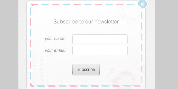 newsletter form 20 Cool Free Pixel Perfect PSDs
