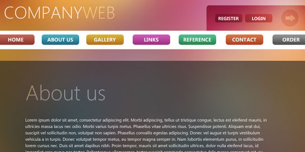 Colorful Website PSD