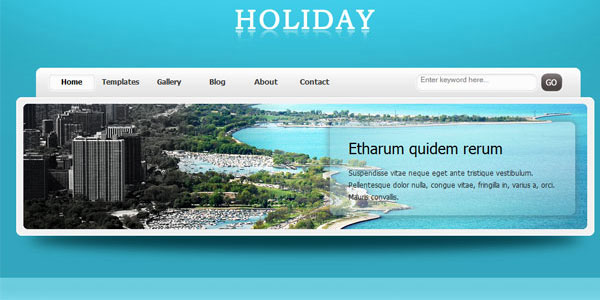 Holiday Free Website Template