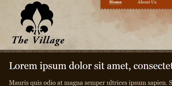 village template 25 Free PSD Website Templates
