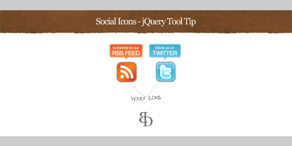 Social Icons With Cool jQuery Tooltip