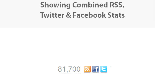 Combined Facebook, Twitter & RSS Social Stats with jQuery, PHP & YQL