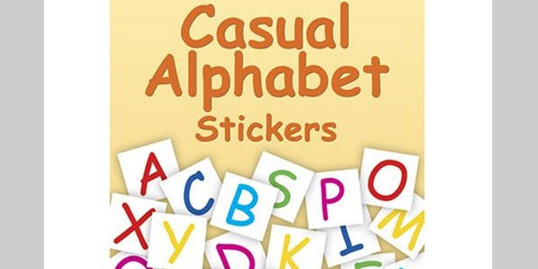 Casual Alphabet Stickers