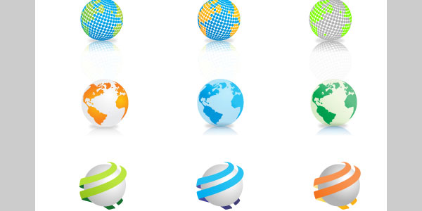 vector globes 20 Free Files Of Vector Maps