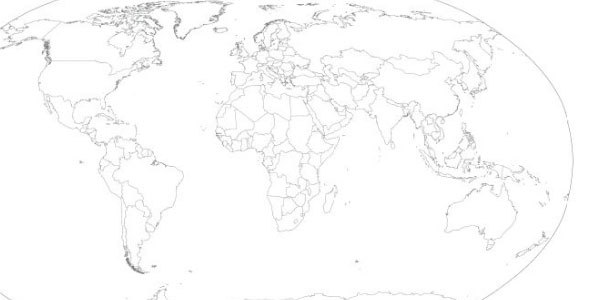 Vector World Map (Oval)