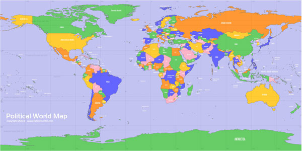 free vectorial world map