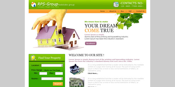 25 free web design templates which you could use today free real estate website template pronofoot35fo Image collections