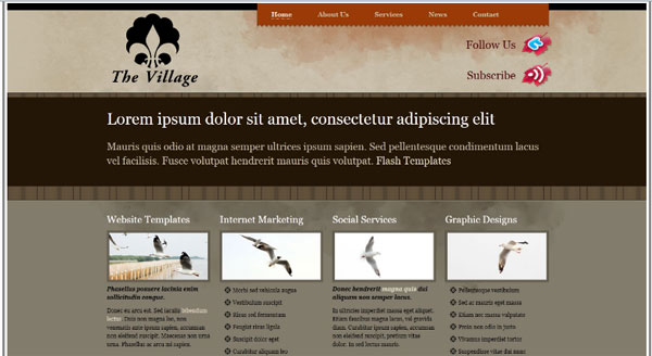 village 20 Professional Website Templates