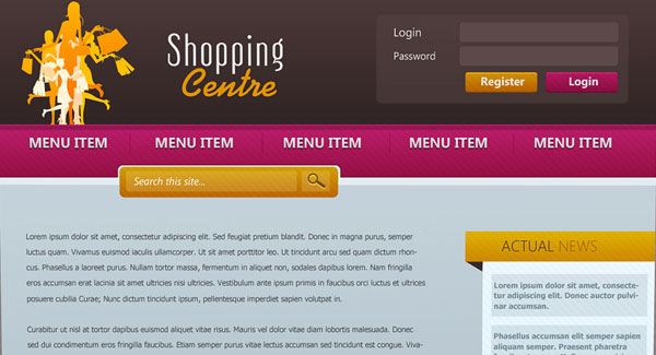 Shopping Centre Web Template