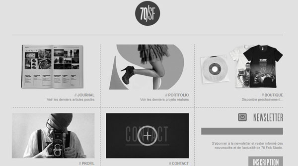70folk 25 Awesome Website Layouts