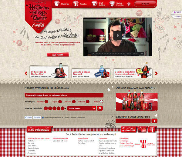 cocacola 25 Awesome Website Layouts