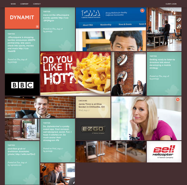 dynamit 25 Awesome Website Layouts