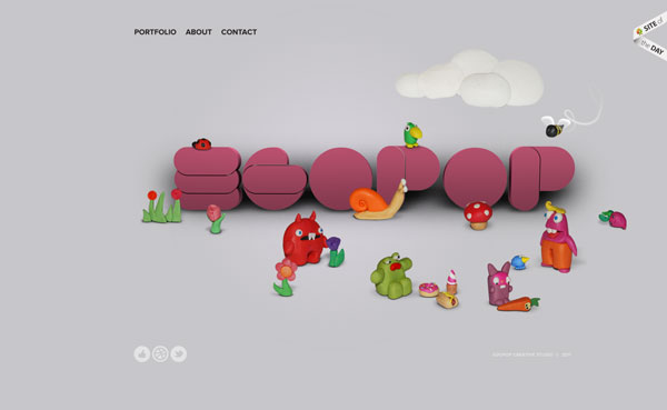 egopop 25 Awesome Website Layouts