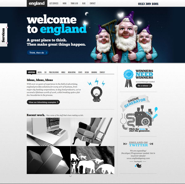 englandagency 20 Excellent Website Layouts Ideas