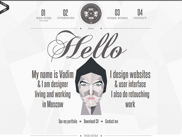 madebyvadim 20 Excellent Website Layouts Ideas