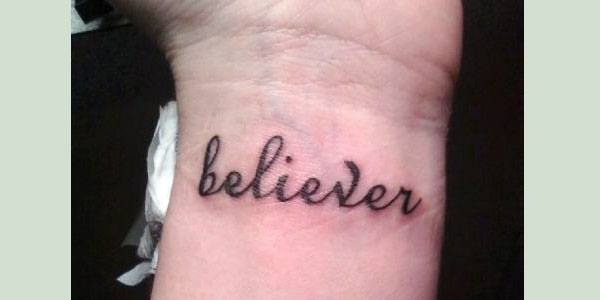 believer 50 Splendiferous Wrist Tattoos