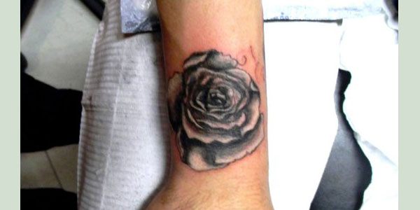 rose tattoo 50 Splendiferous Wrist Tattoos