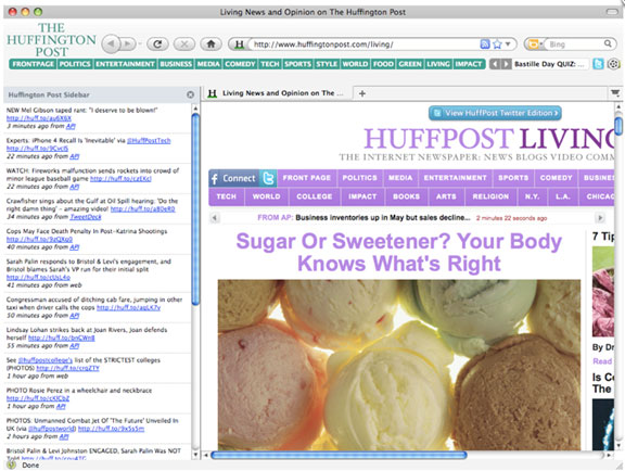 huffinpost browser theme