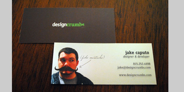 design crumbs card 25 Great Business Card Ideas