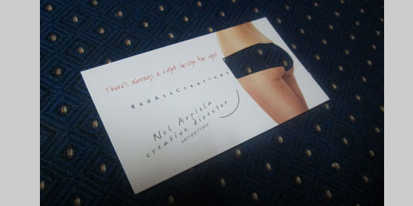 die cut underwear card 25 Great Business Card Ideas