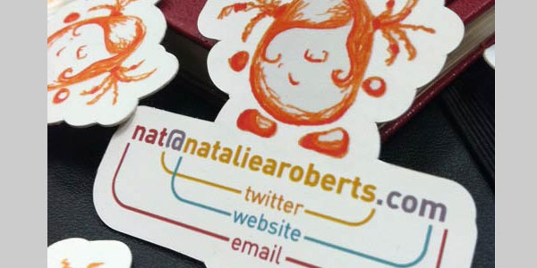 natalie roberts card 25 Great Business Card Ideas