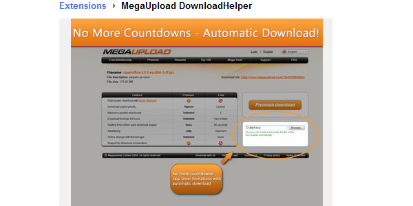 MegaUpload DownloadHelper