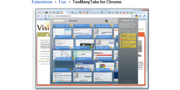 TooManyTabs for Chrome