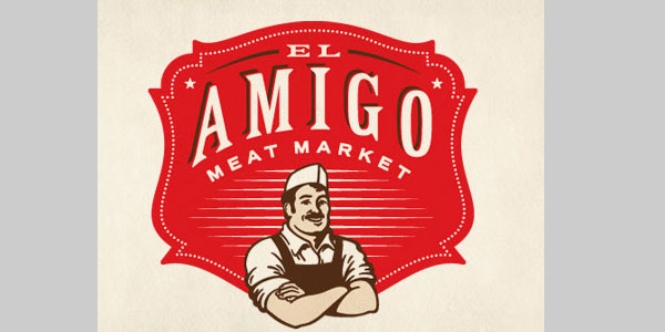 meat market identity 25 Cool Logo Designs Which Are Sure To Inspire You