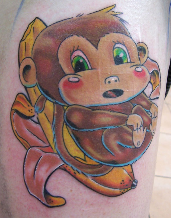 cute monkey tattoo 20 Cute Tattoos