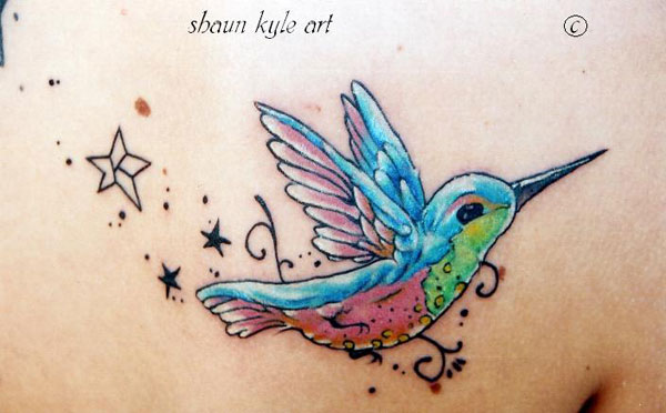 hummingbird tattoo 20 Cute Tattoos