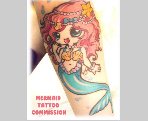 mermaid 20 Cute Tattoos