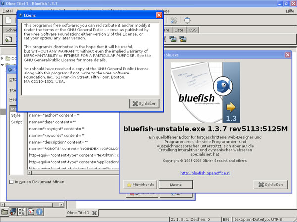 bluefish 22 Free Open Source Web Design Tools