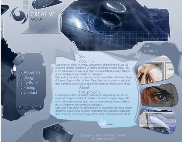 creative group template 25 Awesome Flash Website Templates