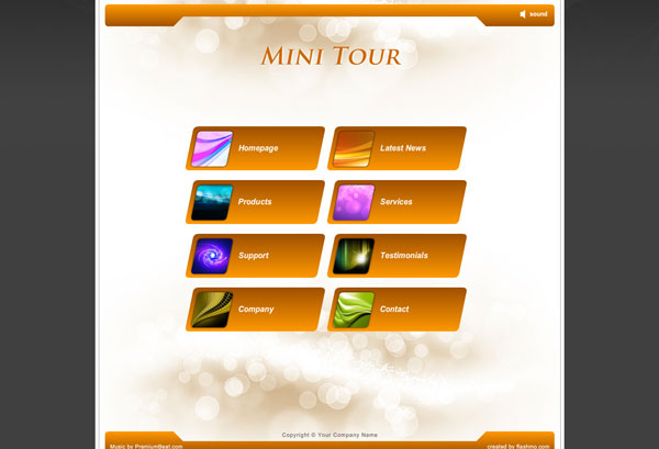 min tour 25 Awesome Flash Website Templates