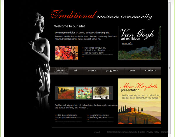 museum site 25 Awesome Flash Website Templates