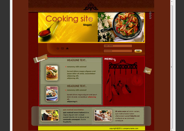 templates cooking 25 Awesome Flash Website Templates
