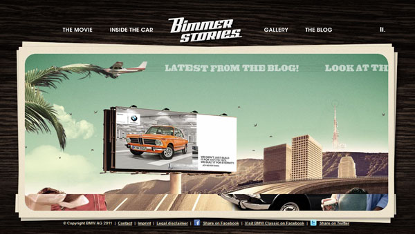 bimmerstories 25 Awesome Flash Websites