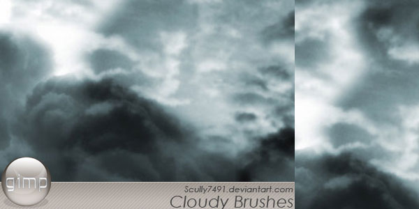 Cloudy Brushes version Gimp