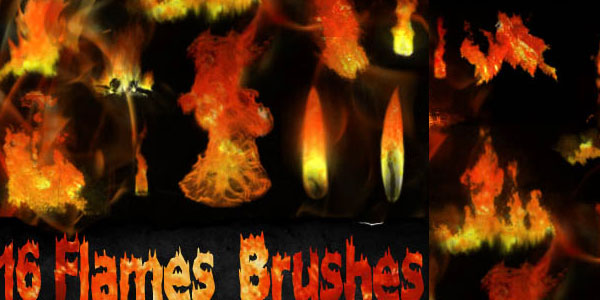 GIMP Flames Brushes