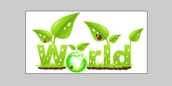 Green earth vector graphic