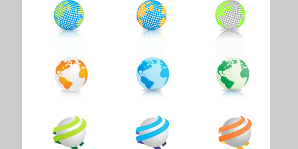 9 Vector Globes Download