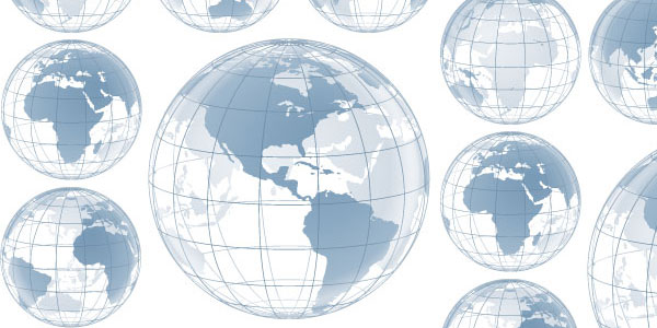 wireframe globe 20 Globe Vector Collection