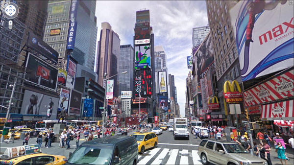 times square 20 Great Google Maps Street Views