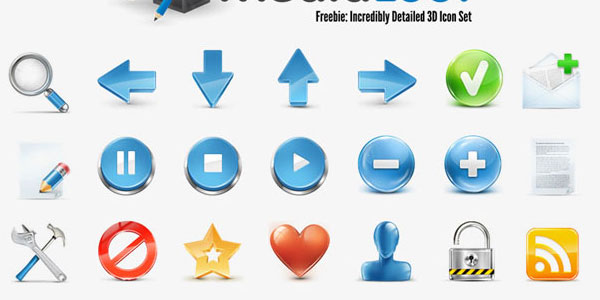 Incredibly Detailed 3D Icon Set